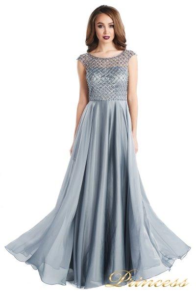 вечернее платье 24166-171 gray (стальной)