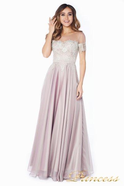 Вечернее платье 24186-1 rose (серебро)