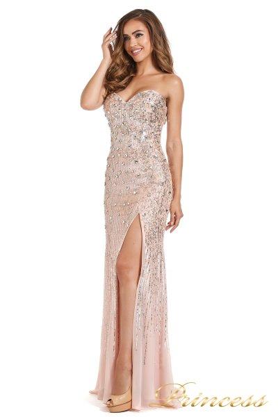 Вечернее платье 249833-nude (розовый)