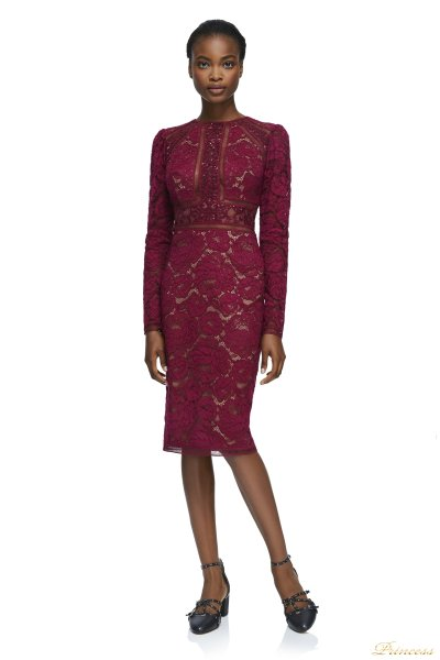 Вечернее платье Tadashi Shoji AYV17792M WINE NUDE (красный)