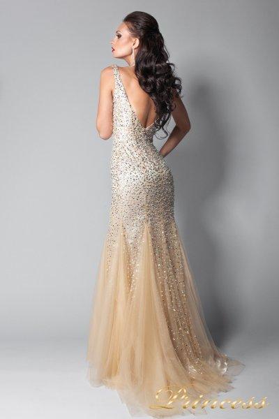 Вечернее платье 265 (бежевый)