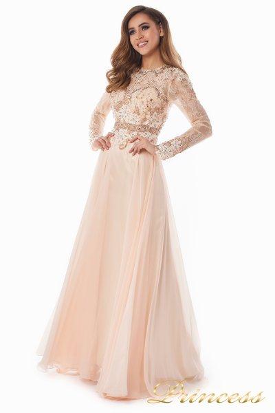 Вечернее платье 2853 (персиковый)
