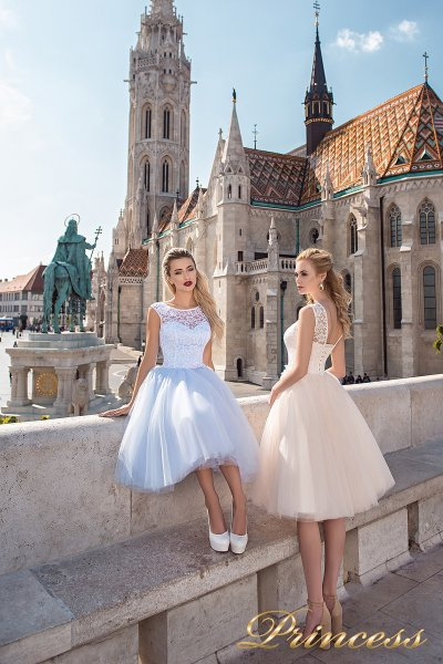 Вечернее платье 7042 (голубой)
