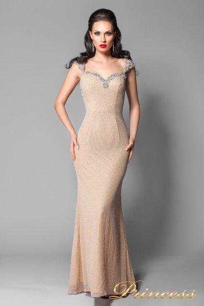 Вечернее платье 3611 (пудра)
