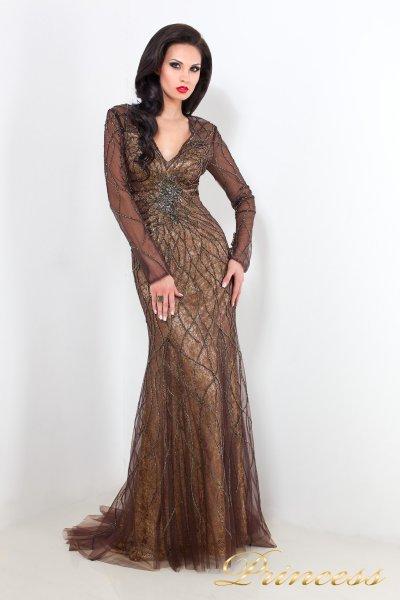 Вечернее платье 3657 (коричневый)