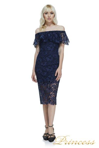 Вечернее платье Tadashi Shoji AXS17426MD NAVY (синий)