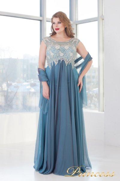 Вечернее платье 4675 B (голубой)