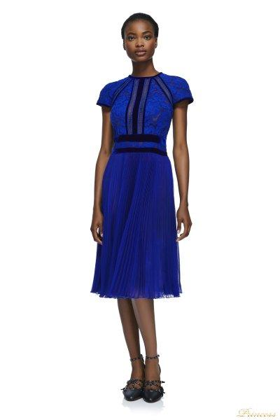 Коктейльное платье AYV17705M ROYAL (синий)