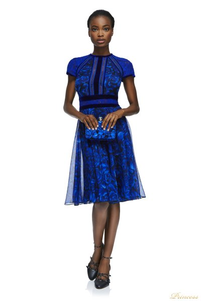 Коктейльное платье AZV17705M RYLBK  (синий)