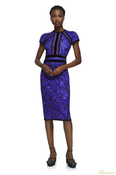 Коктейльное платье BAV17705MX VIOLET BLK (фиолетовый)