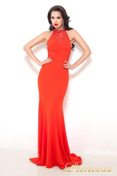 Вечернее платье 6009 (оранжевый)