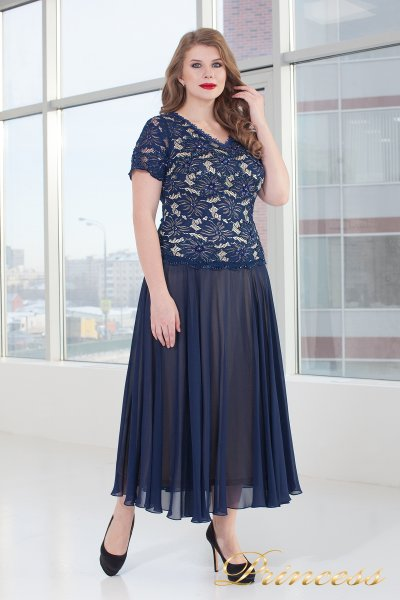 Вечернее платье 6115N (синий)