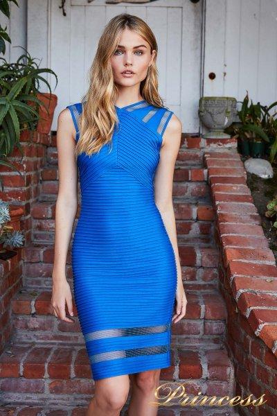 Коктейльное платье 6L18105M SKY PIN (электрик )