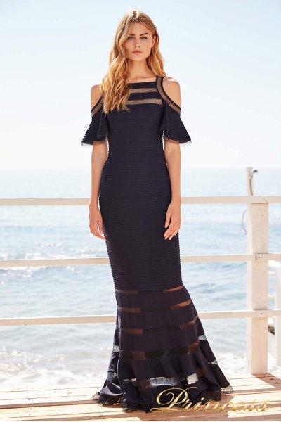 Вечернее платье 6L 18104L NAVY. (синий)