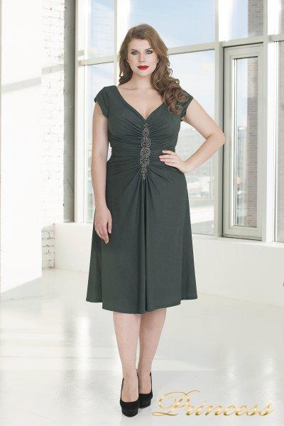 Вечернее платье 720 G (стальной)