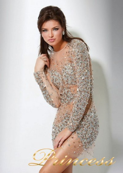Коктейльное платье 7757B (золото)