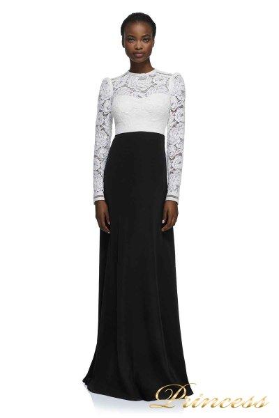 Вечернее платье AYV17723L WH BK (чёрно-белый)