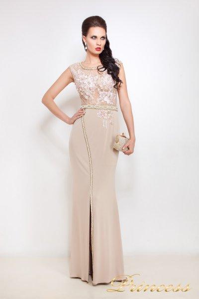 Вечернее платье 8033 (пудра)
