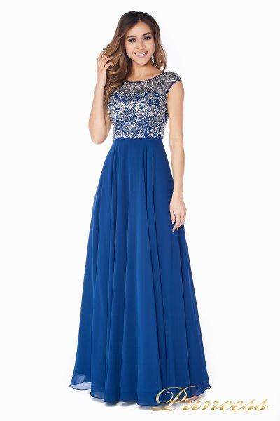 Вечернее платье  80824AN (синий)