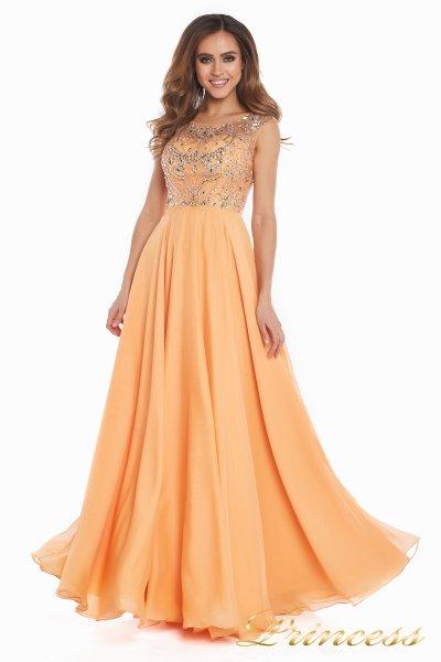Вечернее платье 80824AP (персиковый)