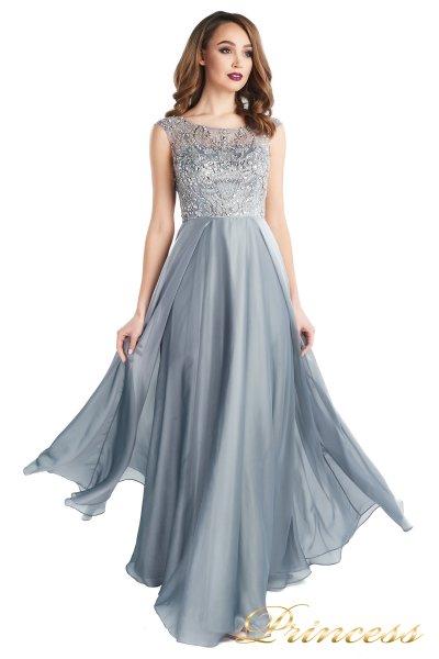Вечернее платье 80824-171 gray (стальной)