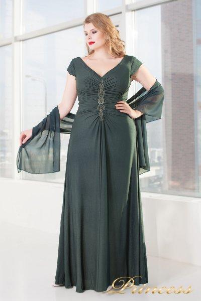 Вечернее платье 826 dark-green (серый)