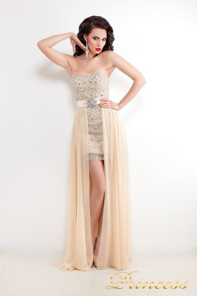 Вечернее платье 8617N (кремовый)