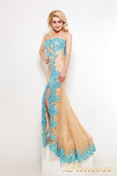 Вечернее платье 9008B (пастельный)