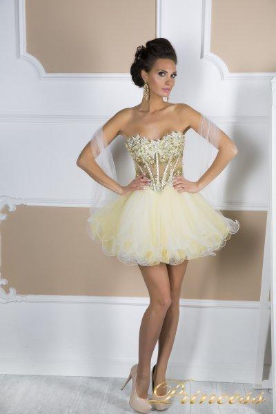 Коктейльное платье 91286  (шампань)