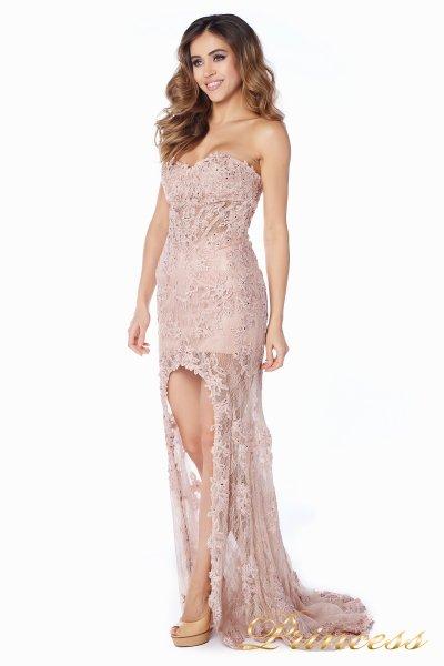Вечернее платье 92545 (розовый)