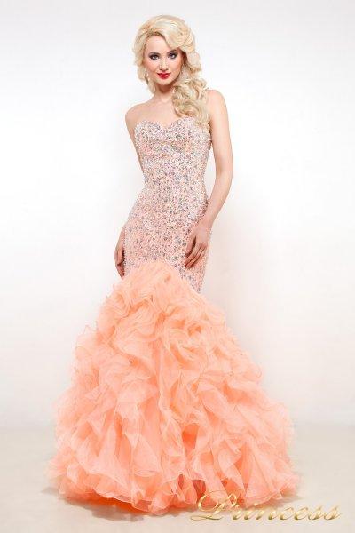 Вечернее платье 95076 (оранжевый)