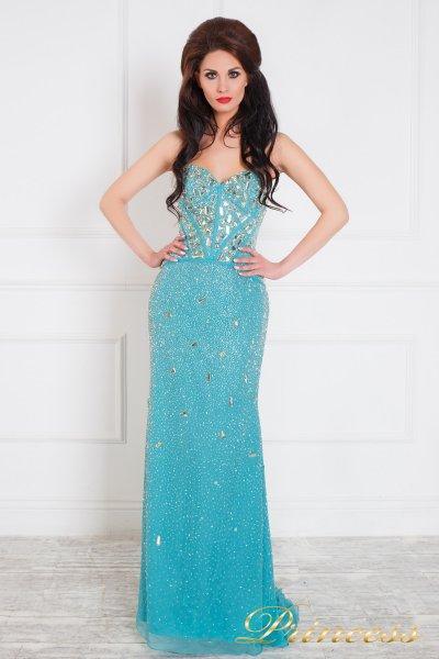 Вечернее платье 96127С (голубой)