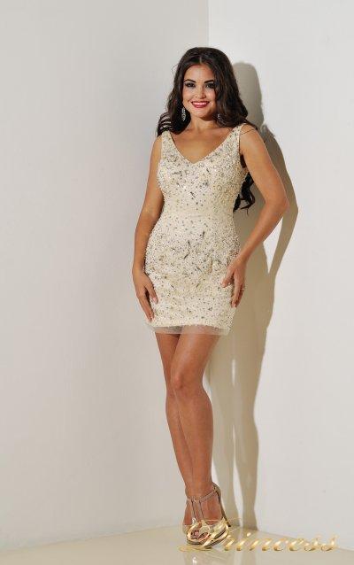 Коктейльное платье 96139B (пастельный)