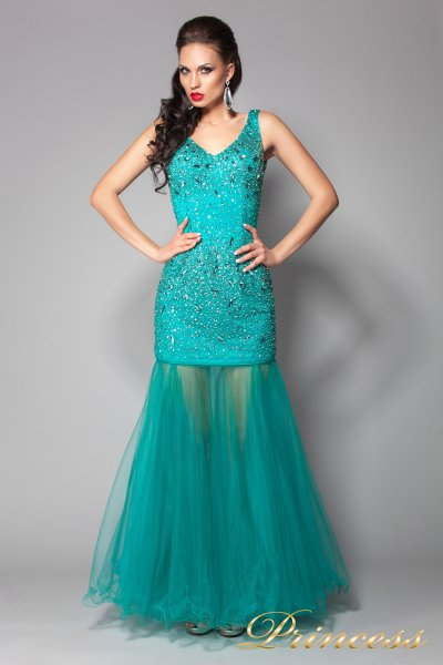 Вечернее платье 96139LG (зеленый)