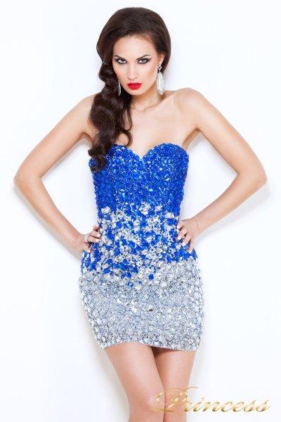 Коктейльное платье 96144 (стальной)