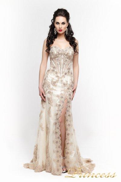 Вечернее платье 98362 (шампань)