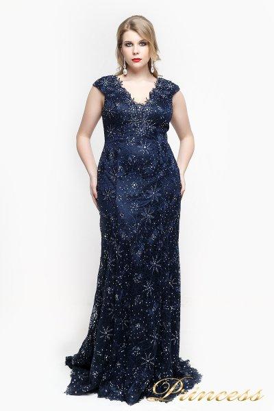 Вечернее платье 12026 (синий)