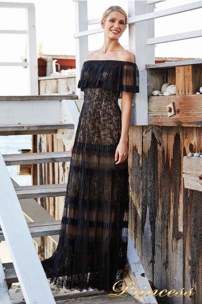Вечернее платье BBT 18363 L BLACK NUDE (чёрный)