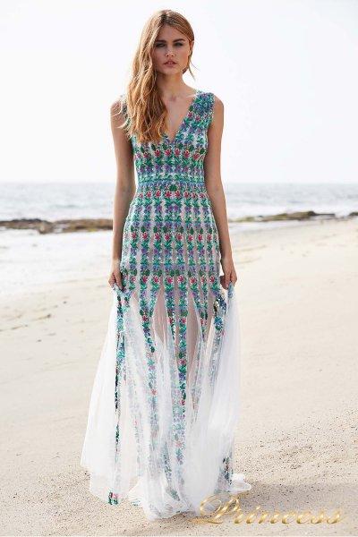 Вечернее платье BDB18404L WHITE JADE FLORAL (белый)