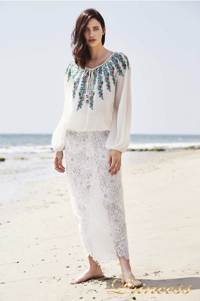 Вечернее платье BDB18447 WHITE (белый)