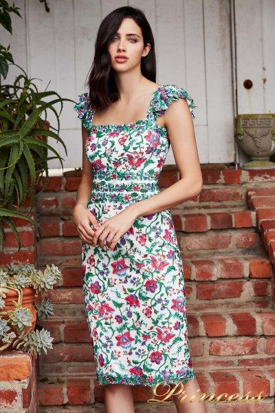 Вечернее платье BDB 18432 WHITE (цветочное)