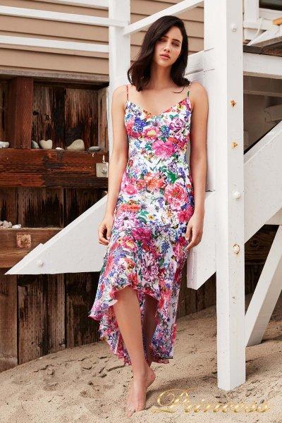 Вечернее платье BDE 17052MD WHITE FLORAL PRINT (цветочное)