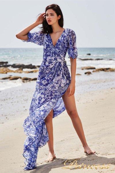 Вечернее платье BDG 18375L ROYAL IRIS MALIBU (голубой)