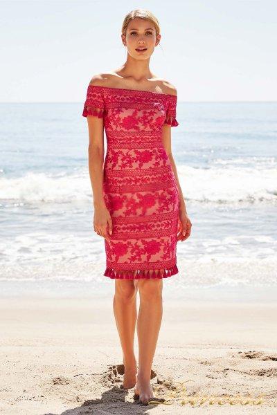 Вечернее платье BDM18586M DAHLIA FLORAL (красный)