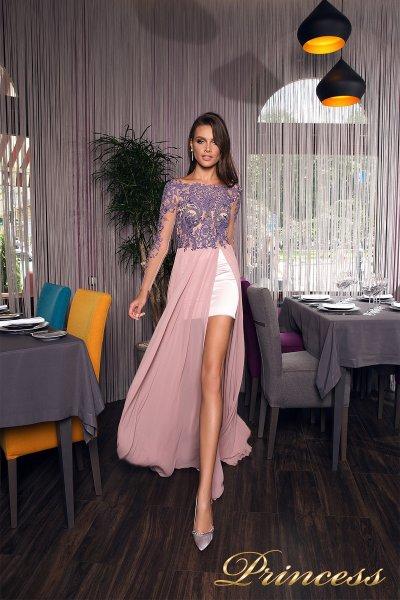 Вечернее платье 19026 (сиреневый)