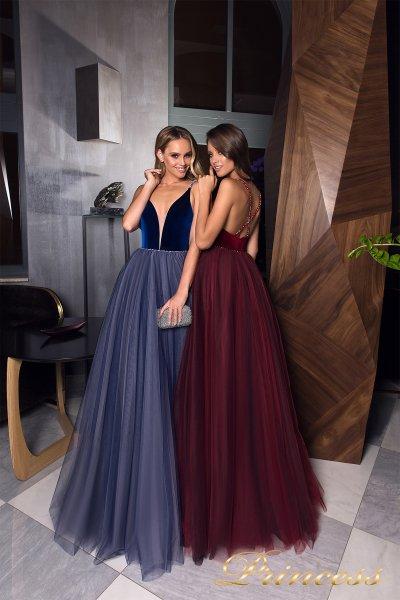 Вечерние платья 19029 (бордовый)