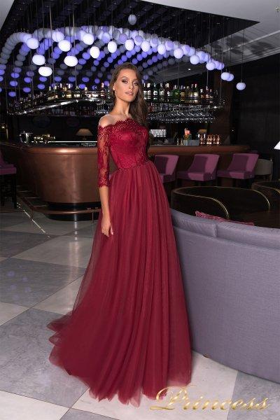 Вечернее платье 19035 (красный)