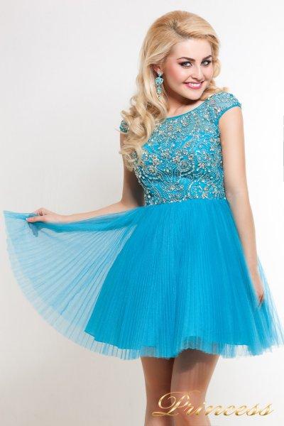 Платье на выпускной 24B (голубой)