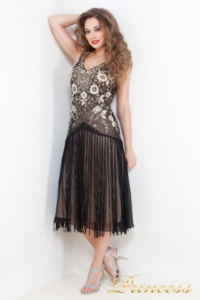 Вечернее платье 101008 (коричневый)