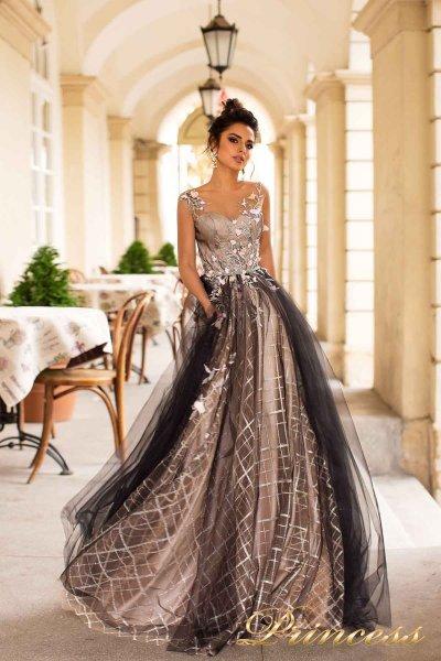 Вечернее платье 18110  (чёрный)